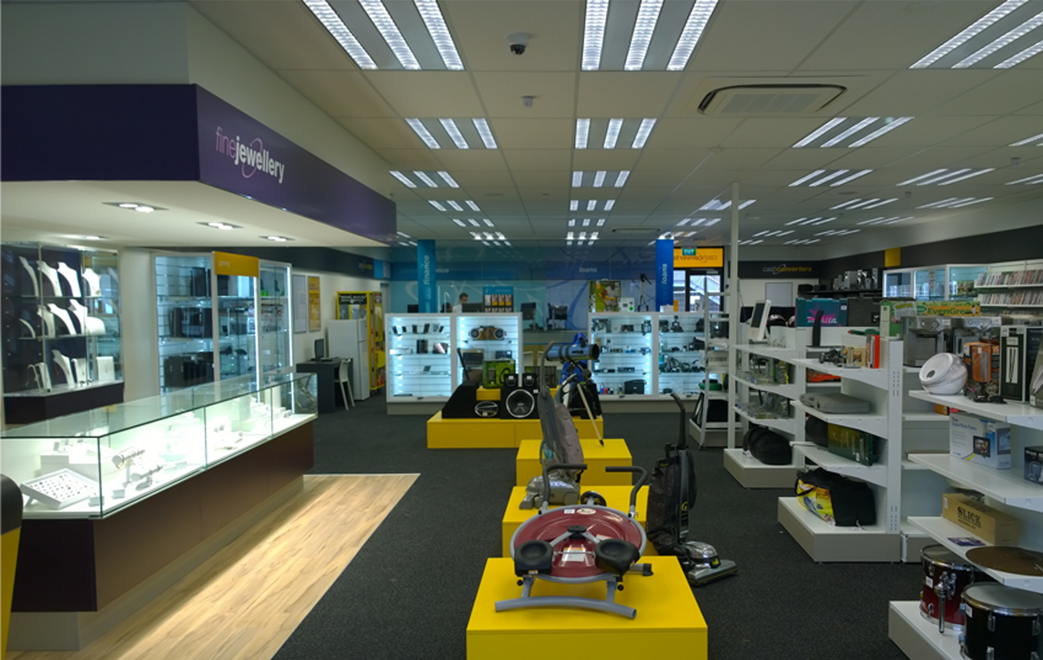 General size of a Cash Converters store is around 350sqm. Includes retail and inventory space